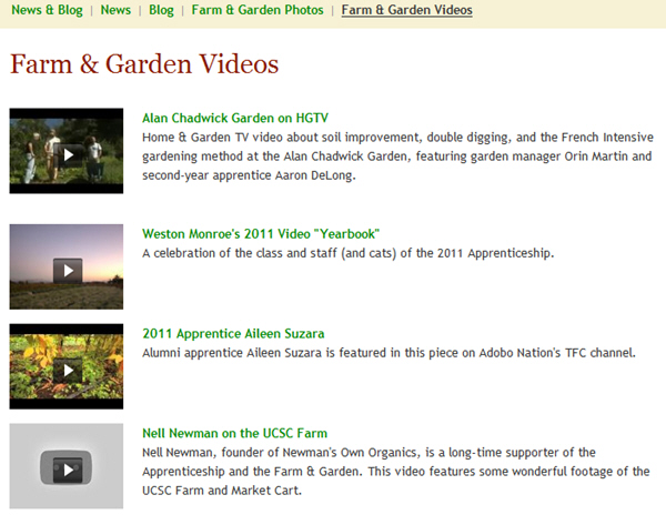 Grow a farmer YouTube and Vimeo videos